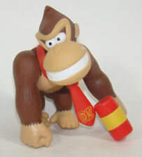 Super Mario Brothers Donkey Kong W/ Hemmer Action Figure Plastic Toy 9CM