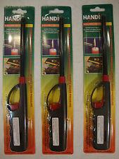 3 Handi Flame Multi Purpose Refillable Lighter Long Nozzle Child-Resistant Grill