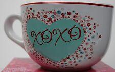 Disney Valentine Mickey & Minnie Mouse White Blue Heart XOXO Stuff Soup Mug