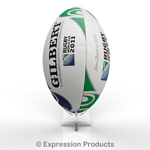 Acrylic Rugby Ball Display Stand holder for Signed Autographed Ball