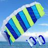 1.4m Rainbow Power Dual Line Stunt Parafoil Parachute Kite Sports Surfing NEW