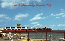 Red White and Blue Monorail at Wildwood by the Sea NJ OLD