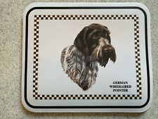 German Wire-haired Pointer Mouse Pad - Non Slip Non Skid 9.25 x 7.75 x 1/4 in