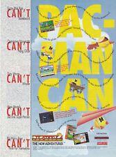 Original PAC MAN 2 NEW ADVENTURES Nintendo SNES Sega video game print ad page