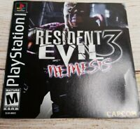 Resident Evil 3: Nemesis (PlayStation 1, 1999) Tested Works Great! W/Manual.