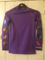 RAINBOW STARS CROSS COUNTRY COLOURS FOR EVENTING XC PURPLE KIDS SIZE XS ~E