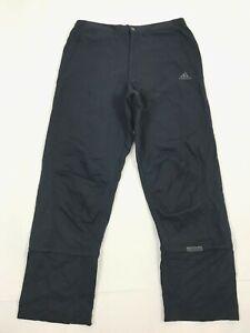 Vintage 2002 Adidas Lined Trousers Men's Size M Navy Cotton Pants Detachable Leg