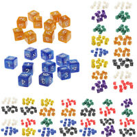 20Pcs Combo Dice Set Square D6 16mm for Dungeons & Dragons Role Playing Prop