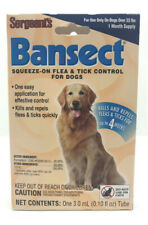 New Lot Of 2 Sergeants Bansect Dog Flea & Tick Control Squeeze-On Application
