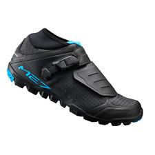 New Shimano ME7 Men's Enduro Trail Off Road Bike Shoes - Black / Blue - Size 42