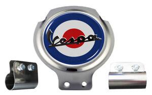 Vespa Mod Target Scooter Bar Badge - FREE BRACKET & FIXINGS