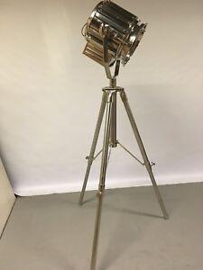 LIBRA FURNITURE Oversize Nickel Studio Tripod Floor Lamp RRP £899