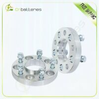 2 pcs 5x4.5 20mm wheel spacers silver 14x1.5 studs for Ford Mustang CB 70.5mm
