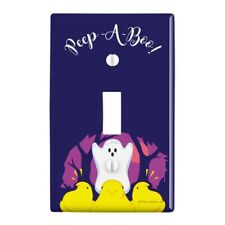 Peep A Boo Ghost Halloween Plastic Wall Decor Toggle Light Switch Plate Cover