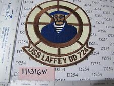 NAVY USN Squadron Patch USS LAFFEY DD-724 DESTROYER ww2 Korea Cold war