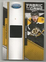 TYLER SEGUIN 11-12 PANINI CERTIFIED 11-12 FABRIC OF THE GAME NRMT+ 065/399 2110