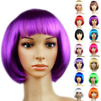 Popular Women Short Bob Cut Fancy Dress Wigs Cosplay Costume Halloween Full Wig
