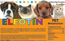 Eleotin Dog Cat Natural Treatment Metabolism Blood Glucose Diabetes Kidney 30-45