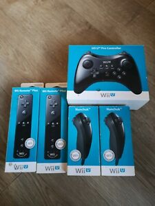 Wii U Remote Plus X2, Nunchuck X2 And Pro Controller X1