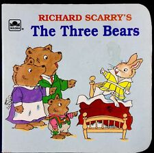 RICHARD SCARRY'S THREE BEARS ~ Vintage Toddler Golden Nugget Chunky Board Book