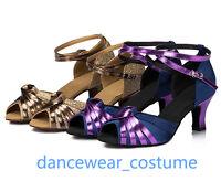 Ladies Party Ballroom Latin Tango Samba Salsa Dance Shoes Heels Sandals EU34-42