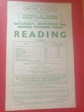 More details for 1949:reading v rotherham united friendly football railway handbill~rare f/post
