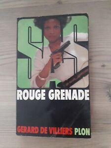 Ancien livre SAS ROUGE GRENADE PLON 67 Gérard DEVILLIERS érotique old book roman