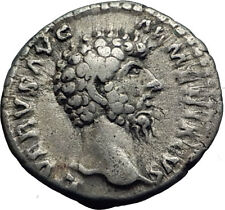 LUCIUS VERUS 163AD Rome Authentic Ancient Silver Roman Coin MARS War God i63329