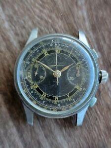 Bovet Chronograph Valjoux 22 Bullseye Gilt Dial