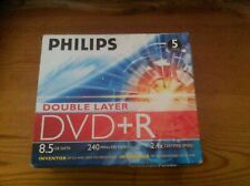 Philips Double Layer DVD+R - 5 Discs New and Sealed