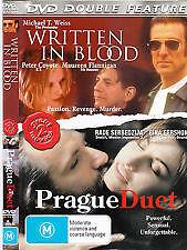 Written In Blood / Prague Duet DVD - Double Feature - Drama / Thrillers