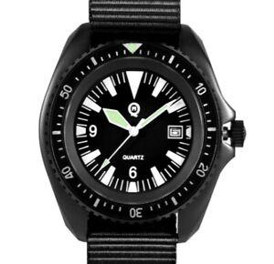 QM Royal Navy Military Divers Watch - BLACK PVD FINISH