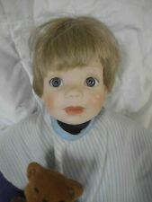 Adorable Nicholas' First Haircut Porcelain Doll Danbury Mint Elke Hutchens