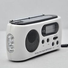 Solar Power Hand Crank Radio With LED Flashlight Emergency Phone Charger