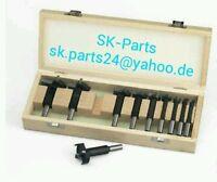 EDESSÖ 10tlg Satz HW HM Kunstbohrer im Holzbox 10-50mm  Forstnerbohrer 5021001