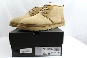 UGG Australia Neumel Winter Ankle Boots Suede Sheepskin Lined NEW NIB Mens 18