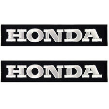 Set of 2 Honda Motorcycle Biker Racing Embroidered Iron on Patch