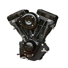 "Black S&S V124 124"" Evolution Evo Motor Engine Harley Softail Dyna Touring FXR"