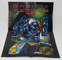 ZEN Intergalactic Ninja 1995 Poster PROMO Entity Express Joel Orbeta Comics RARE