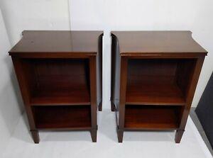 Vintage/Antique Pair Art Deco Kittinger Nightstands Table w Shelf Mahogany Wood