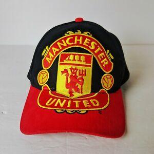 Vintage Manchester United Soccer Big Logo Snapback Adjustable Baseball Cap Hat