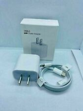For iPhone 12/11/12 Pro Max/XR/iPad Fast Charger 20W USB-C Power Adapter Cable