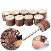 12pcs 240Grit Sanding Flap Wheel Sand Paper  Rotary Die Grinder Drill Bit