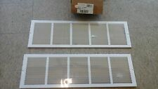 """10 AIRMATE (Selkirk) 01113008CW 30"""" x 8"""" 170 White Stamped Fixed Face Return AIR"""