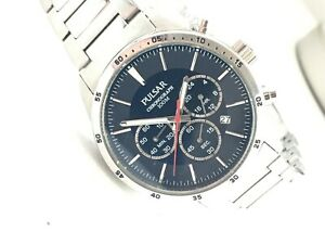 Pulsar by Seiko Mens VD53-X001 Chronograph Sports Watch Blue Dial