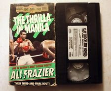 VHS: Thrilla in Manilla: Muhammad Ali vs. Frazier III boxing sports rare