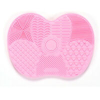 Silicone Makeup Brush Cleaner Washing Scrubber Board Cosmetic Pad Mat Pink