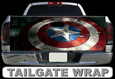 T256 CAPTAIN AMERICA Tailgate Wrap Decal Sticker Vinyl Graphic Bed Cover