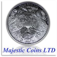 2013 African Congo 4 oz Silver Lion Antique Finish Uncirculated CoA