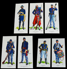 American Civil War Uniforms Of The Union 7 Cards ACW Wargame Painting Guide
